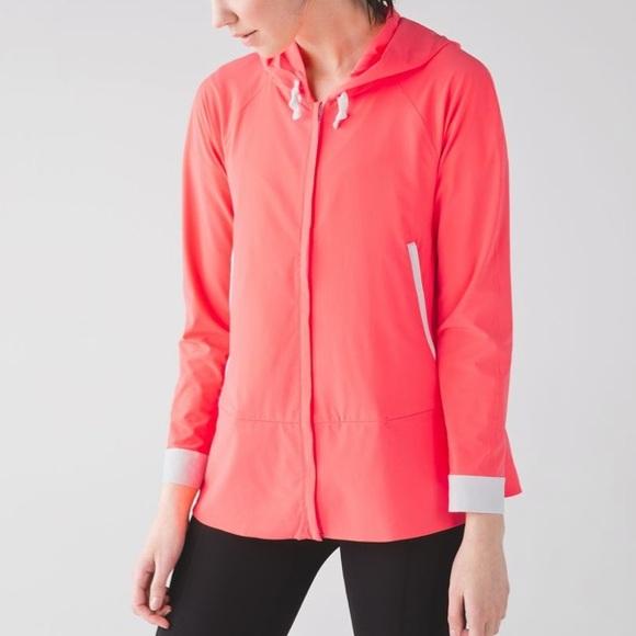 lululemon athletica Jackets & Blazers - Lululemon Sun Showers Jacket: Grapefruit/White